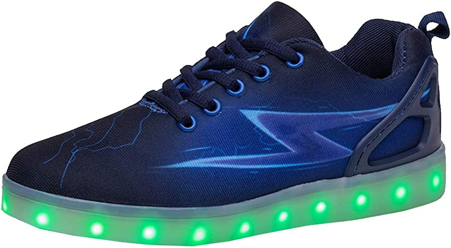 yunhou Homme Femme Chaussure LED Lumineux Sports 7 Couleur USB Charge Chaussures à Lacets Lumiere Baskets Chaussures