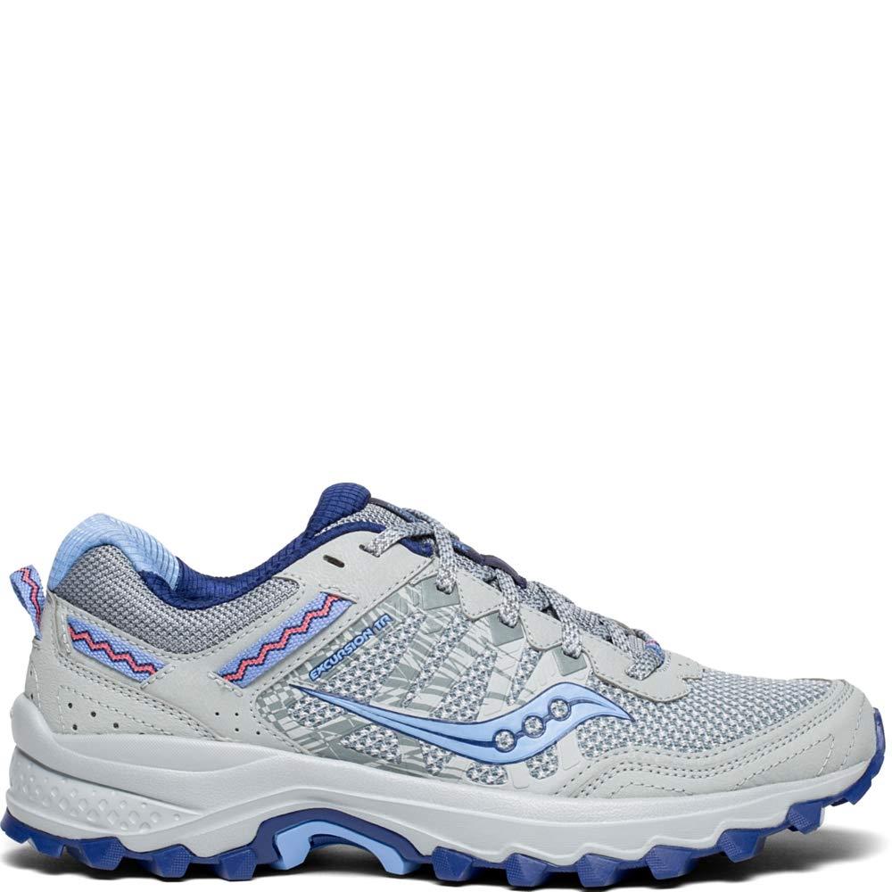 Saucony Women's Excursion TR12 Sneaker, Grey/Blue, 5.5 M US