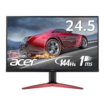 【Amazon.co.jp限定】Acer ゲーミングモニター KG251QFbmidpx 24.5インチ/TN/フルHD/1ms/144Hz/DisplayPort搭載/スピーカー付