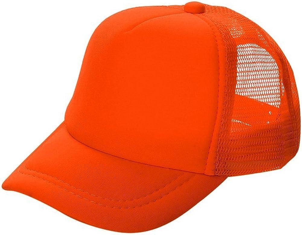 4 Pack Trucker Baseball Hats Caps Foam Mesh Blank Solid Two Tone Adult Youth