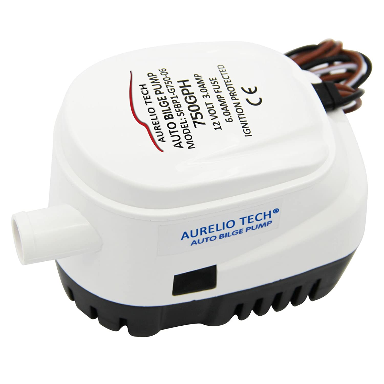 Amazon.com : AURELIO TECH 12V Automatic Submersible Boat Bilge ...