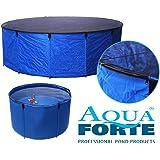 """Aquaforte Flexibles Faltbecken """"Koi bowl"""", Ø 120 x H 60 cm (± 680 Liter), inkl. Abdecknetz und praktischer Tragetasche, blau"""