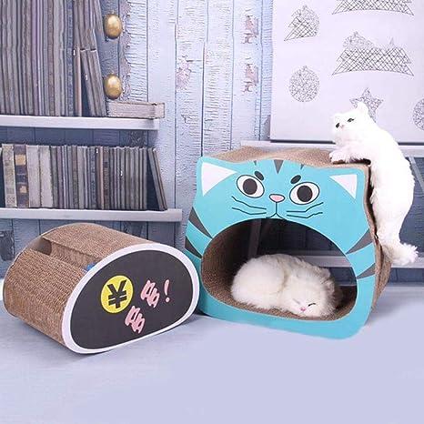Mlec tech 2 en 1 Rascador de Gato con Pelota para Cama y Sofá Almohadillas Rascadores