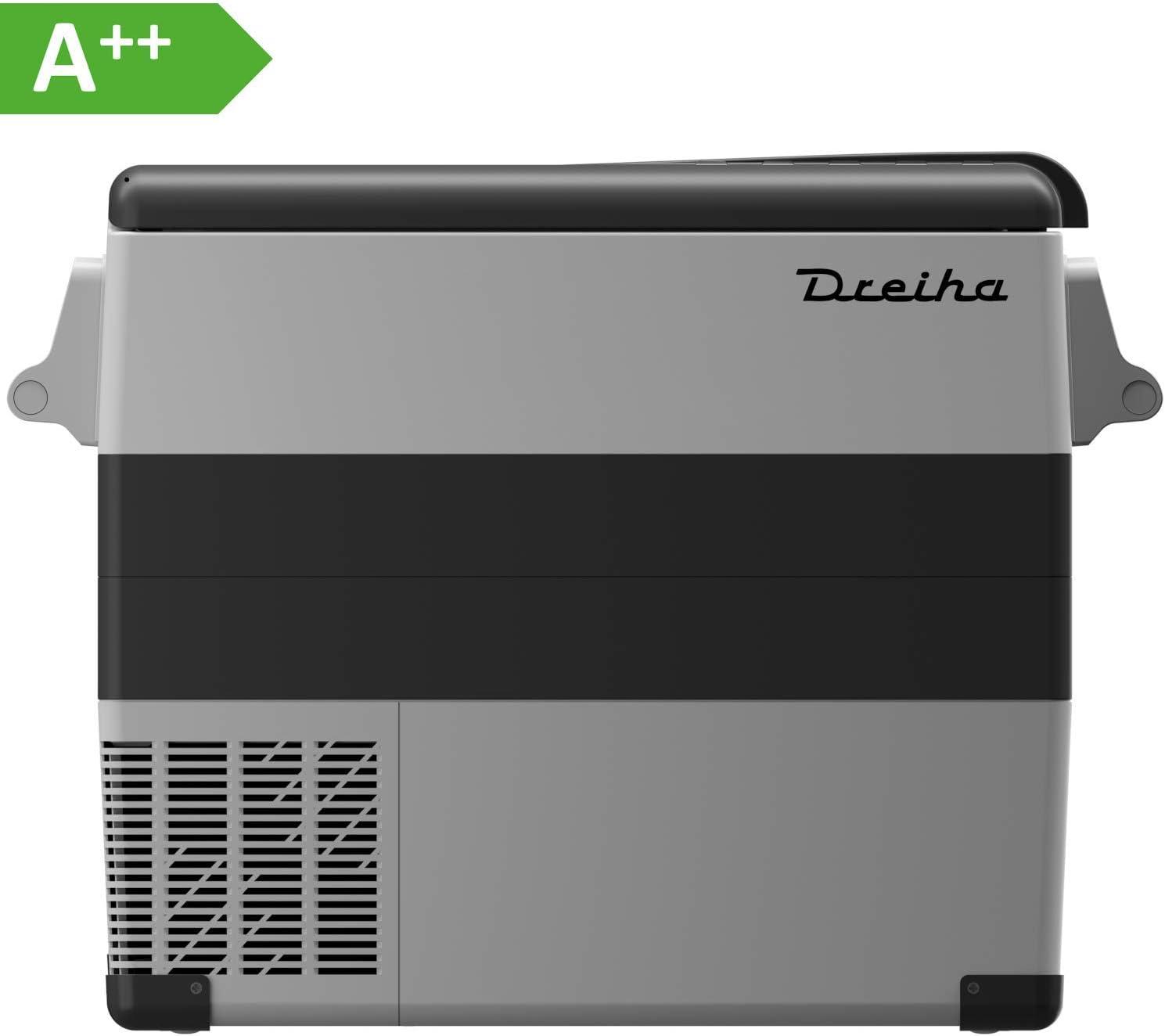 Dreiha CBX55 - Nevera Portátil con Compresor LG, CoolingBox 55 litros de Capacidad, Conexiones 12V / 24V 0 110V/ 220V, Enfriamiento de -20ºC a +20ºC. Incluye Cesta