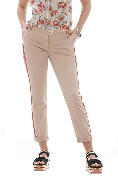 7bb1e27c2f PATRIZIA PEPE Jeans Donna Chinos con Bande Laterali dipinte a Mano ...