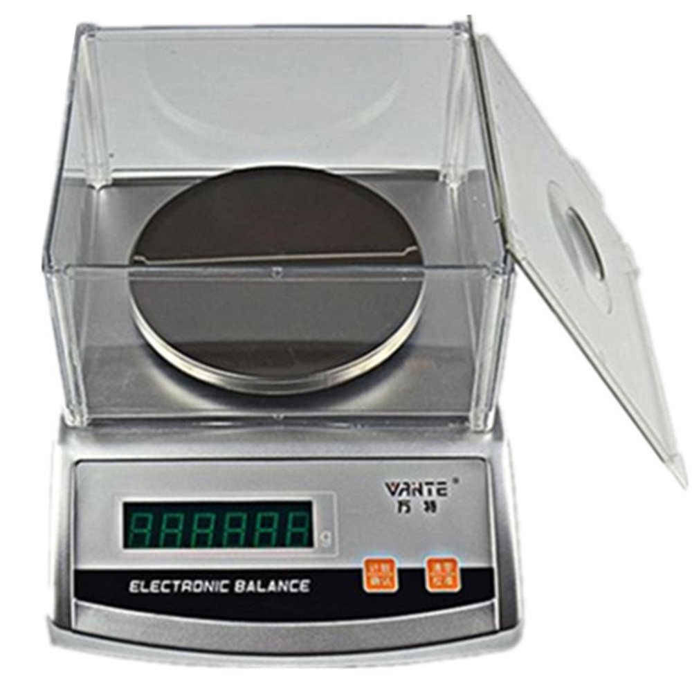 CGOLDENWALL Digital Analysis high Precision Laboratory Analytical Balance Jewelry Scale  High Wind Shield Electronic BalanceQuartile Scientific Research balance0.01g (300g, 0.01g)