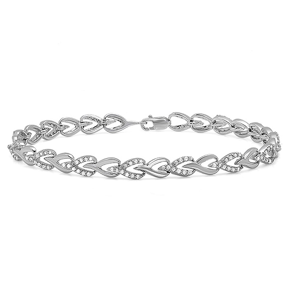 bracelet s cuban sterling mm mens created stones silver diamond lab link inches unique