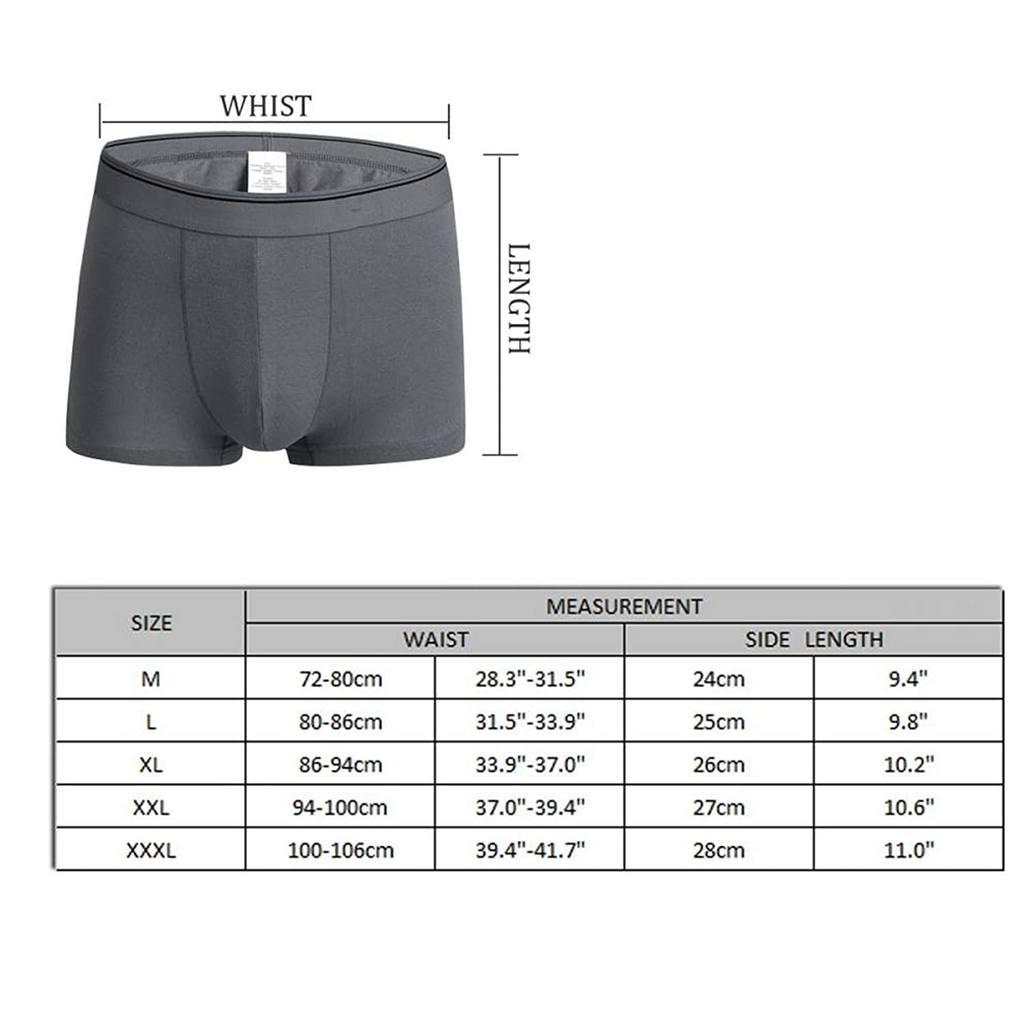 Mens Boxer Brief ball Life Mens Underpants Light Weight Casual Breathable Soft Cotton Large,Black