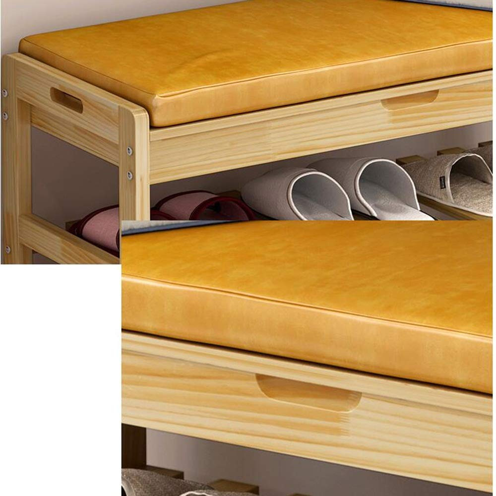 Schuhschrank aus massivem Holzschrank mit platzsparender Aufbewahrung /+*+/ Farbe : Brown, größe : 73.5X30X45cm GY Praktisches Schuhregal Schuhbank