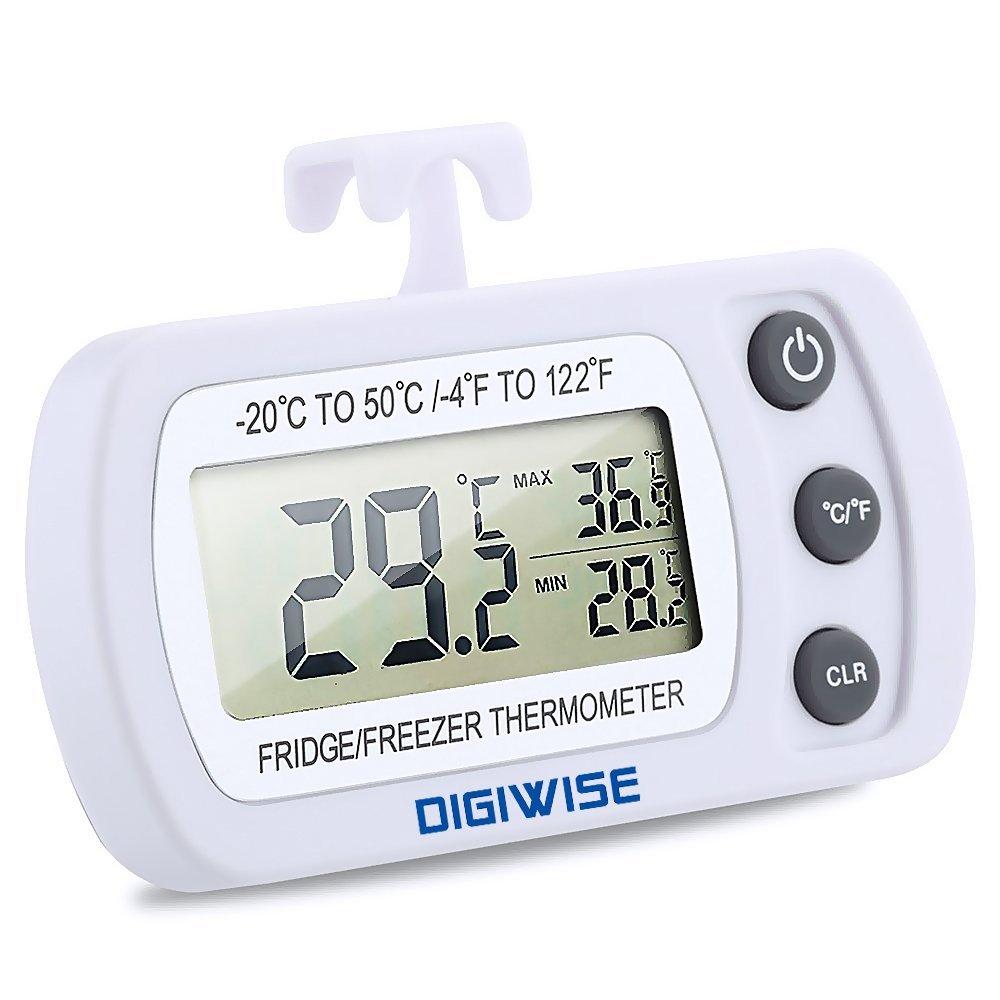 Digiwise Digital Refrigerator Freezer Fridge Thermometer, Wireless with Large LCD, White Holabuyer B01M1IC1DP