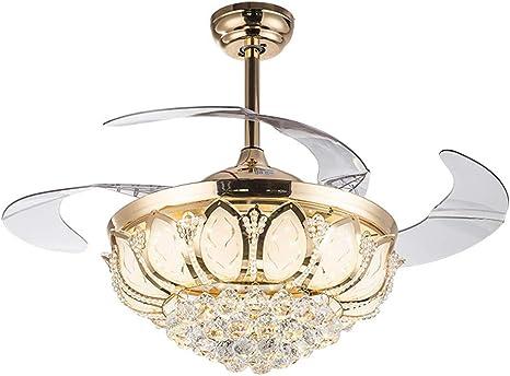 Luz de Ventilador de Cristal de 42 Pulgadas Luz de Ventilador de ...