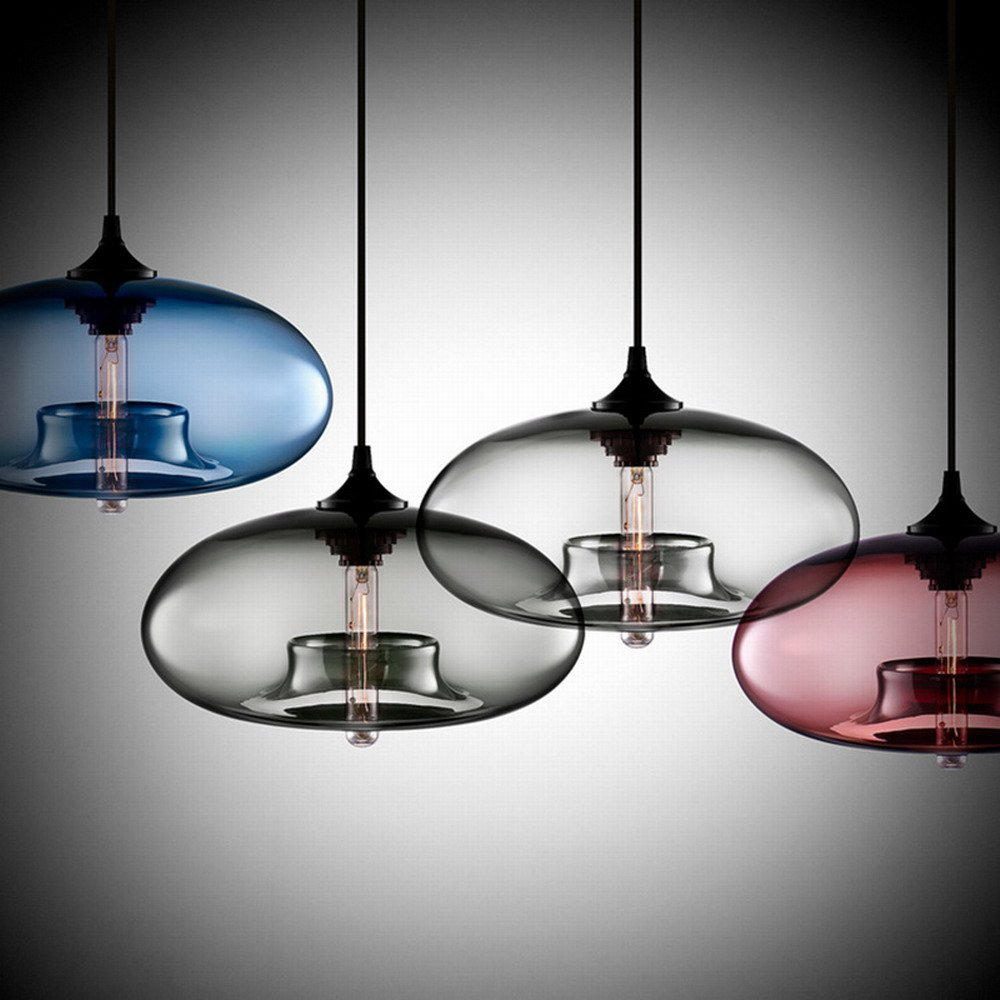 Modern Simple Hanging Glass Pendant Lighting for Kitchen Island Light Fixtures (Clear) by Newrays (Image #2)