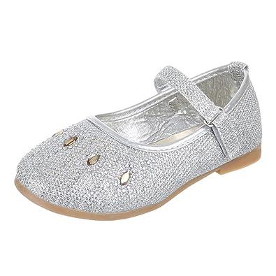 Kinder Schuhe, 56 1A, BALLERINAS HALBSCHUHE MIT DEKO