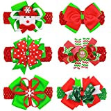 Itaar Baby Christmas Headbands Toddler Girls Elastic Hair Band with Hair Bows Clips Holiday Hair Accessories