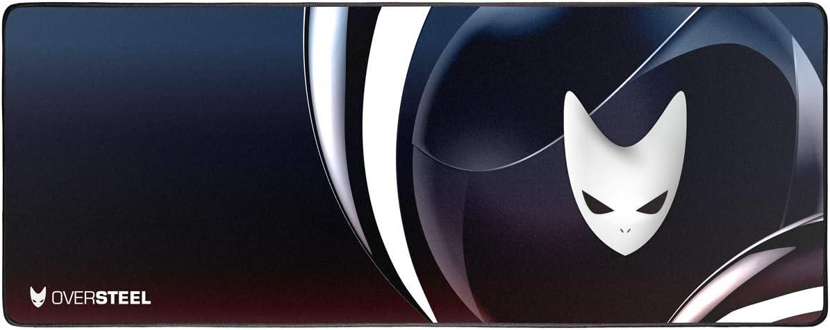Oversteel - Alfombrilla gaming MAGNALIUM, tamaño extragrande (900 x 350 x 4 mm)