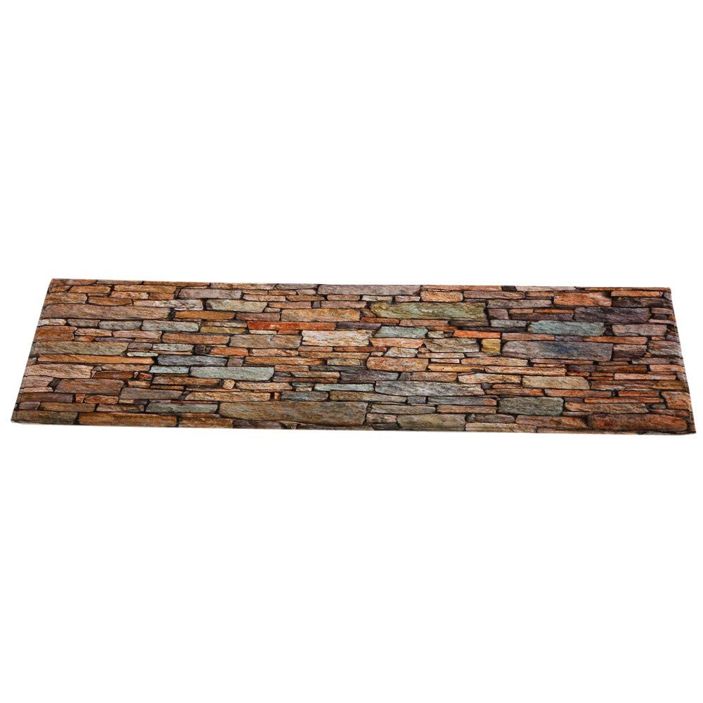 MaxFox Natural Polyester Fiber Brick Pattern Carpet,Soft Shaggy Area Rug Bedroom Rectangle Floor Mat for Home Dining Room Deocr,40x120CM (Multicolor) by MaxFox (Image #4)