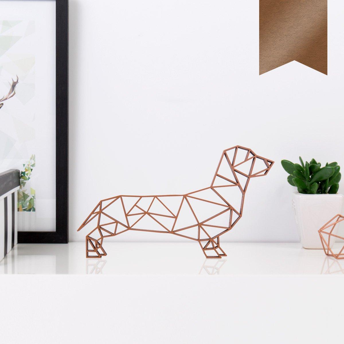 - Kupfer S KLEINLAUT 3D-Origamis aus Holz 10 x 5,8 cm W/ähle Ein Motiv /& Farbe Dackel