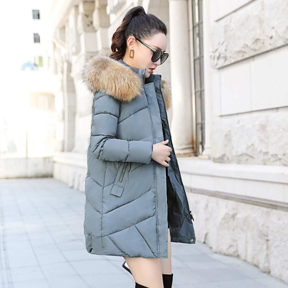 Winter Coats for Women with Fur Hood Short,Women Fluffy Plush Warm Winter Pure Color Coat Jumper Overcoat Jacket Outwear