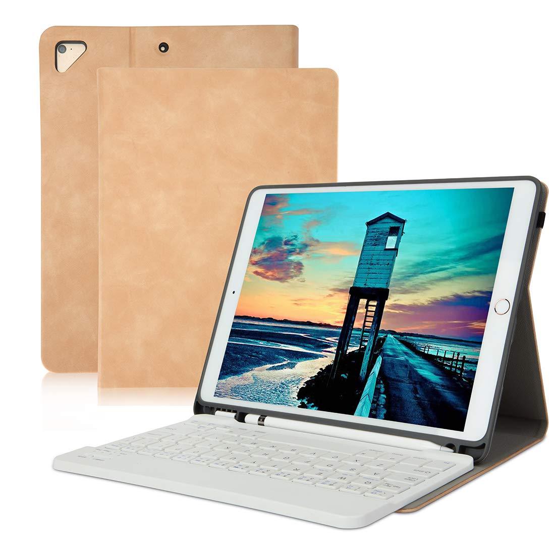 数量は多 iPad キーボードケース B07NLXW2T1 9.7 iPad ペンシルホルダー付き Air iPad 2018 (第6世代) iPad 2017 (第5世代) iPad Pro 9.7 iPad Air 2&1 iPad 第6世代 取り外し可能ワイヤレスBluetoothキーボードケース 自動ウェイク/スリープ(ヌード) B07NLXW2T1, トヨヤマチョウ:d001dd3e --- senas.4x4.lt