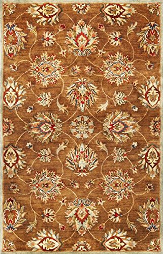 KAS Oriental Rugs Syriana Collection Allover Kashan Area Rug, 9' x 13', Coffee