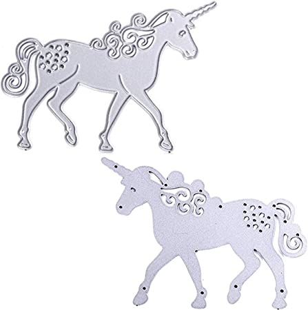 Unicorn Metal Cutting Dies Stencils DIY Template Animals Die Cuts Cards Making