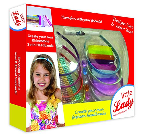 Creativity for Kids, little girls Fashion Headbands, This headband Kit Is Great For Kids Creativity, Fun Girls Hair Accessory Set, Make Fashionable Hair Accessories by Little Lady