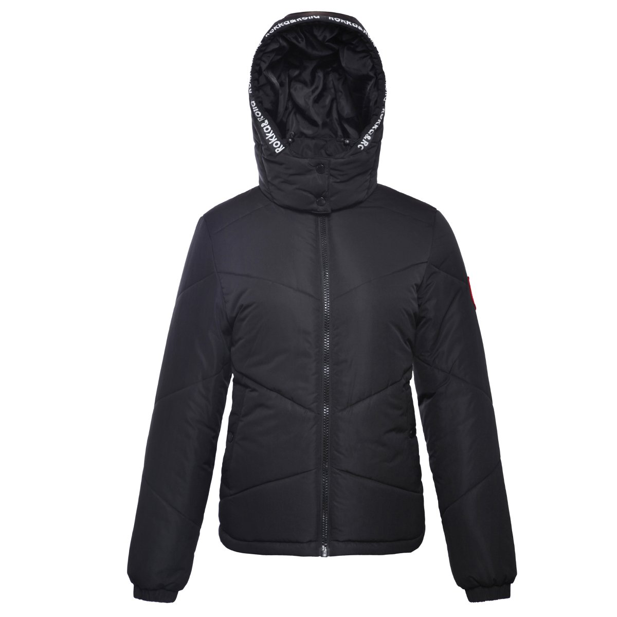 Rokka&Rolla Women's Heavy Padded Water-Resistant Hooded Thicken Quilted Puffer Jacket