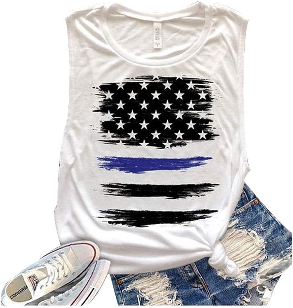 YUFAA Camiseta Fina de Mujer de algodón Blanco con impresión ...