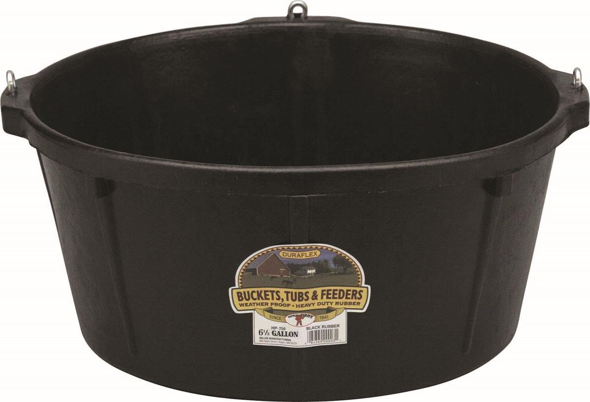 LITTLE GIANT HP750 Feeder Tub, 6.5 Gallon, Black by LITTLE GIANT