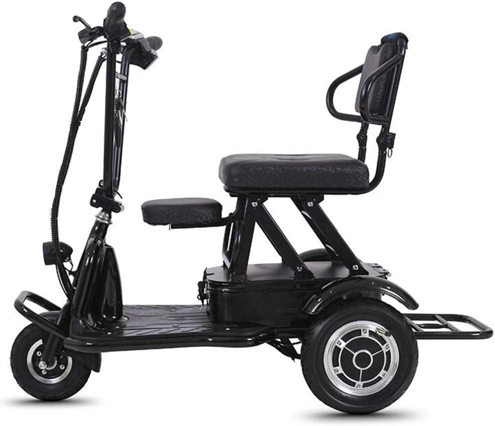 LTLSF Triciclo Eléctrico Plegable, LigeroAncianos Discapacitados Scooter Eléctrico Antirrobo Puede Transportar Bicicleta Eléctrica, 20 Km Unisex,B