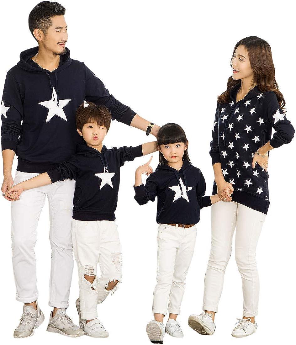 TALLA EU S = Tag L. besbomig Familia papá Mamá Hija Hijo Sudaderas Camiseta de Manga Larga Sudadera mamá y bebé Ropa de Familia