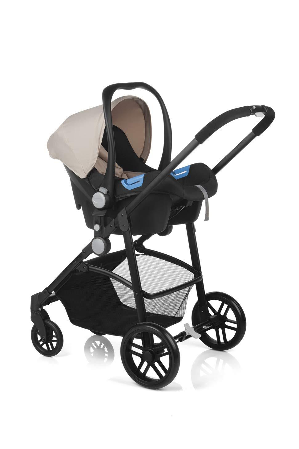 Nurse by Jané Roller Convert + Click - Silla de paseo convertible + portabebé, Color Beige-Negro