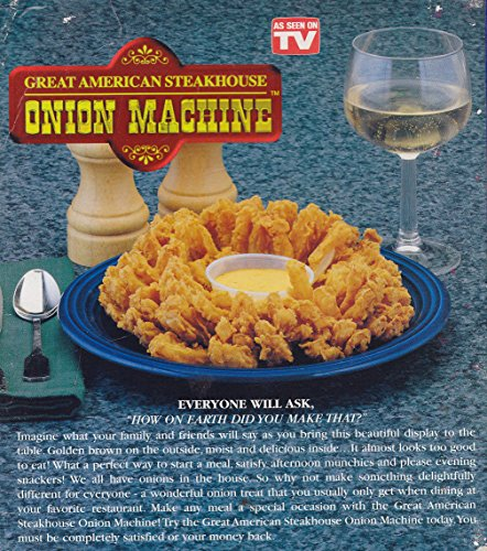 Style Appetizer (Great American Steakhouse Onion Machine -- Make Delicious, Restaurant Style Onion Appetizers At Home -- As Seen on)