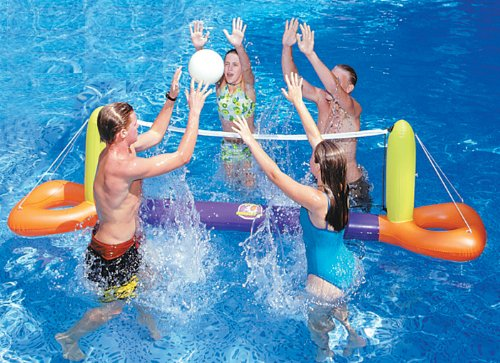 Floating Pool Volleyball Game Set Pool Float Toy, Appliances for Home