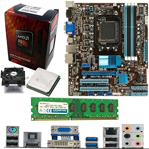 AMD Bulldozer FX-6300 6 Core 3.5Ghz, ASUS M5A78L-M USB3 Motherboard & 4GB...