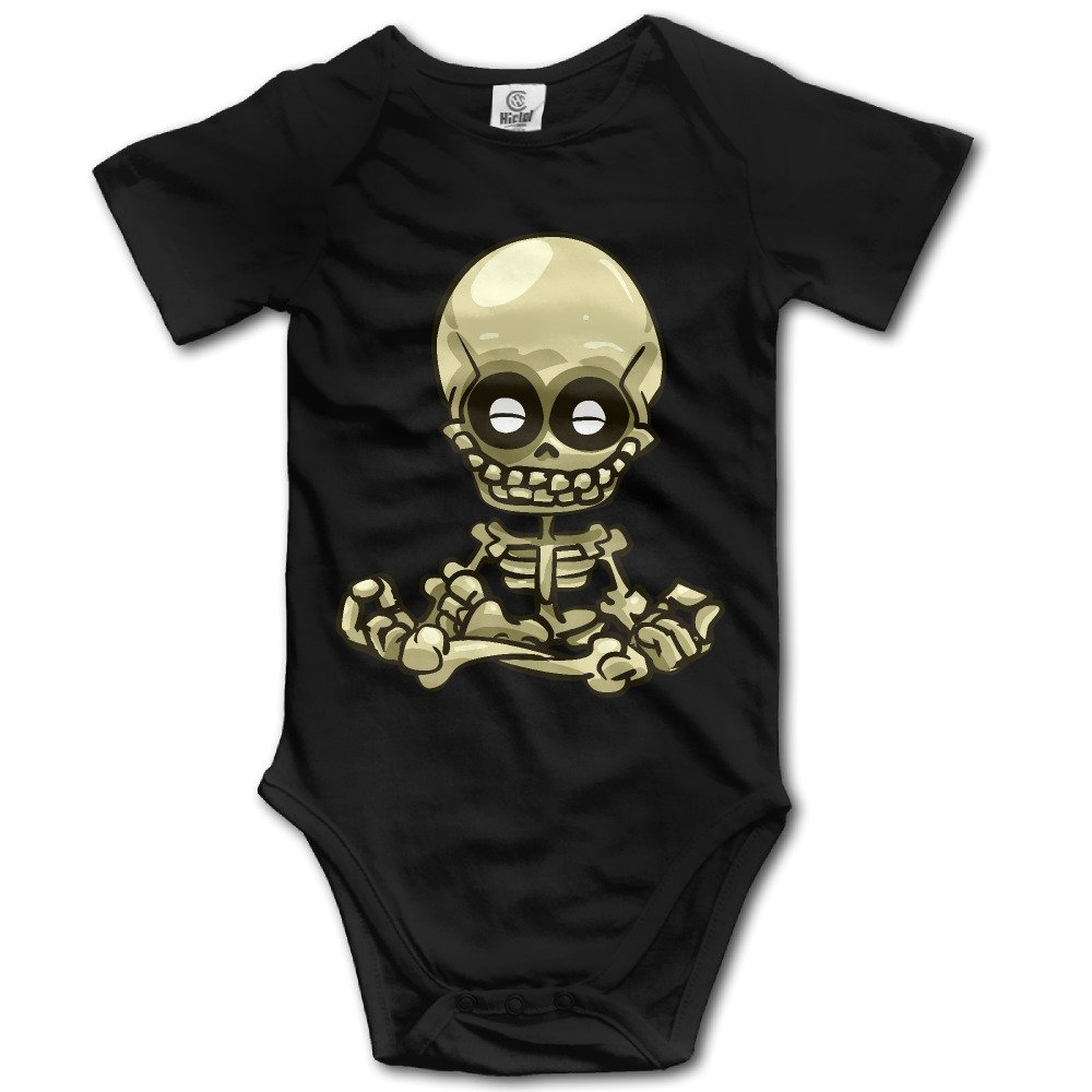 EpE Tiny Funny Skull Bones Climbing Clothes Infant Rompers For Baby Black