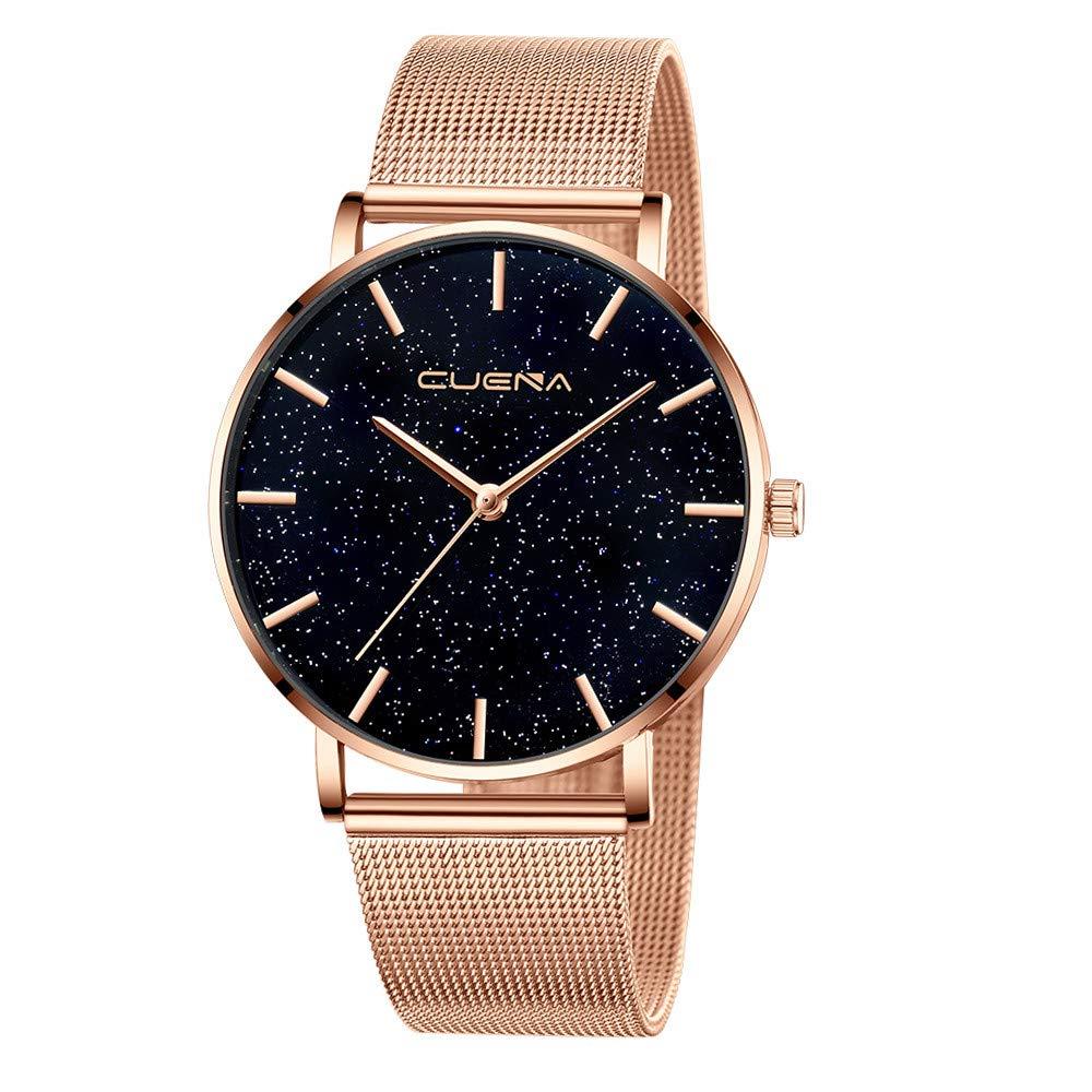 BBestseller Reloj de Pulsera Elegante para Mujer CUENA Relojes de Cuarzo con Cinturón Moda Accesorios Watches (Negro): Amazon.es: Relojes