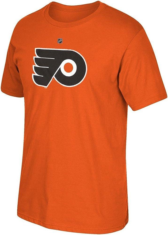 Large Philadelphia Flyers Scott Hartnell Orange Net Print T Shirt