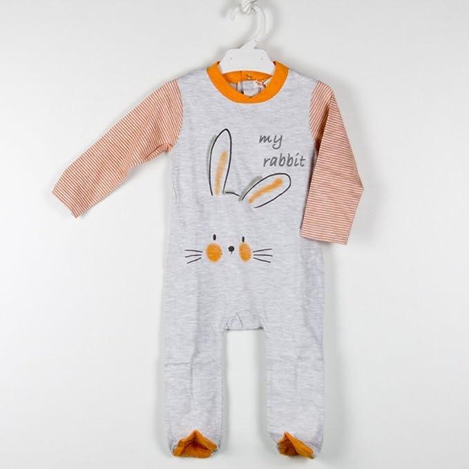 BABY-BOL - Pelele Bebe Conejito bebé-niños Color: Gris Talla: 9M: Amazon.es: Ropa y accesorios