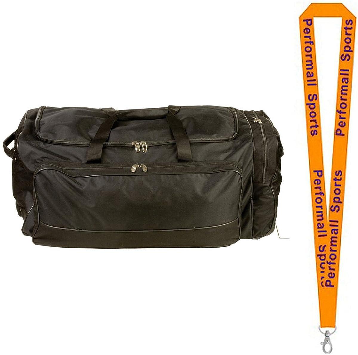 Champion Sports Wheeled Team Equipment Bag Black