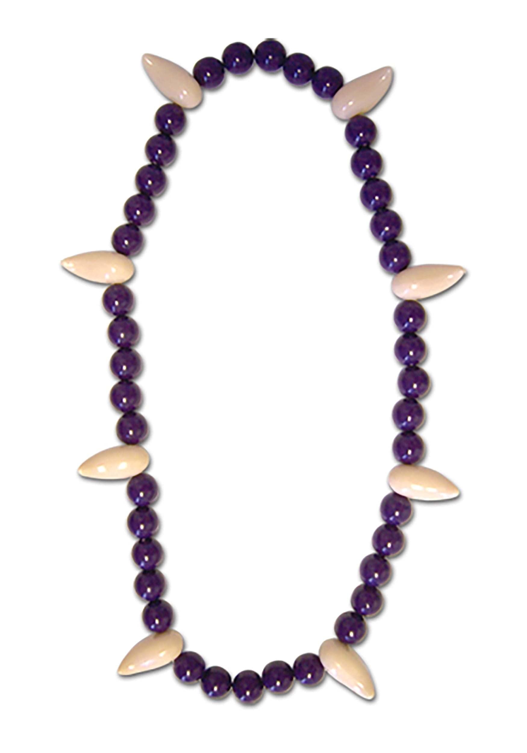 Inuyasha Beads of Subjugation Necklace, Purple, One Size