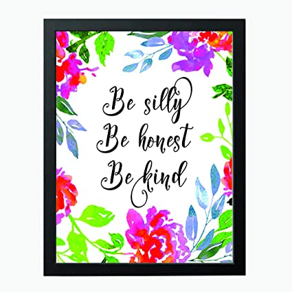 Be Silly Be Honest Be Kind  Kids Room Teen Wall Art  Teen Girls Bedroom  Decor  Inspirational Quotes  Beautiful Wall Decal Gifts For Her, Teen Wall  Art, ...