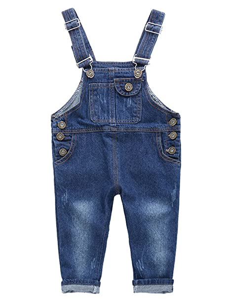 Araus Moda Niños Estilo Verano Pantalones Pichi Primavera De Petos Niñas Vaquero Lindo b76mfIYgyv