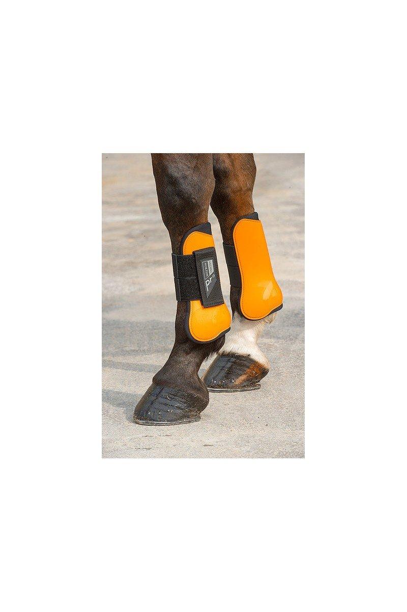 Guêtres et protège-boulets NORTON Pro orange / noir cheval