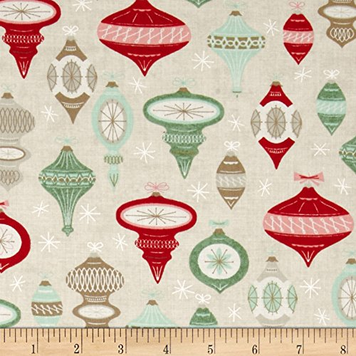 Moda 25th and Pine Ornament Square Tinsel Fabric