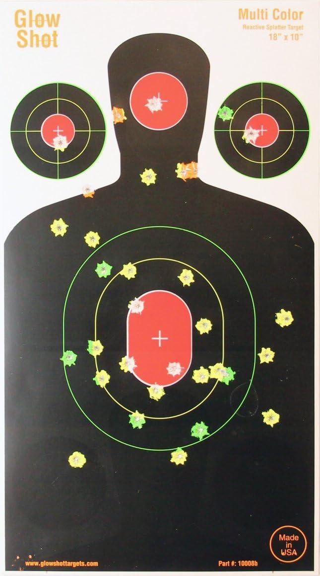Shooting Targets Reactive Splatter Range Paper Target Gun Shoot Rifle  Glow.....