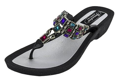 6869d04276f76 Grandco Dancer Thong Sandals - Black - 6