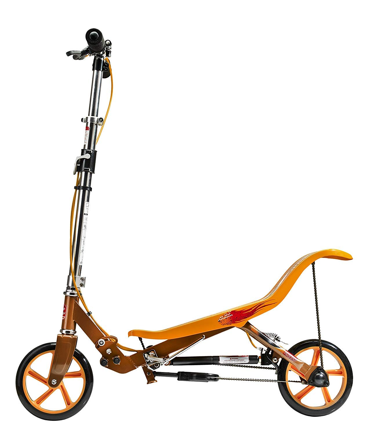 orange Space Scooter X580 Push Push Push Board Seesaw Kids Scooter with Brake, Air Suspension & Compact Fold – White 285a48