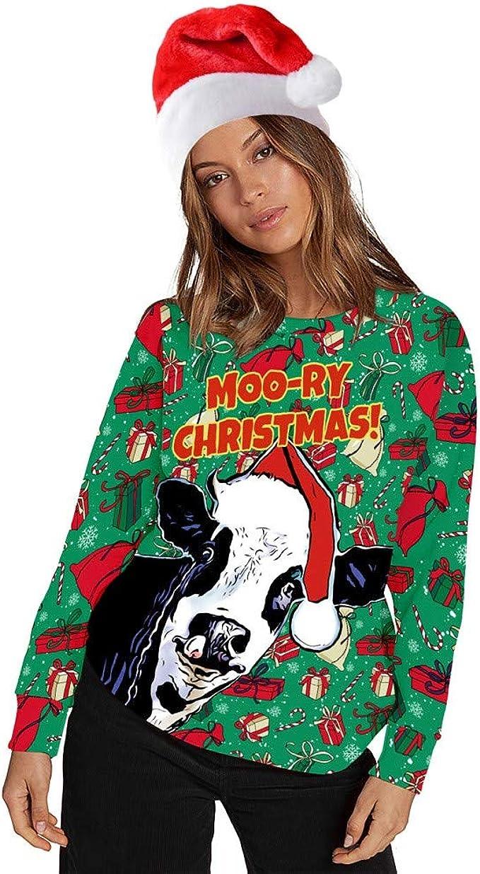 Ugly Christmas Sweater Women Men Xmas Jumper Sweatshirt T-shirt Tank Tops Hoodie