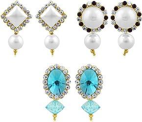 Sukkhi Copper Drop Earrings for Women (Golden) (CB70116GLDPD450)